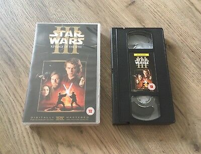 Star Wars Episode Iii Revenge Of The Sith Vhs Tape Uk Pal 2005 Rare Release 49 99 Picclick Uk