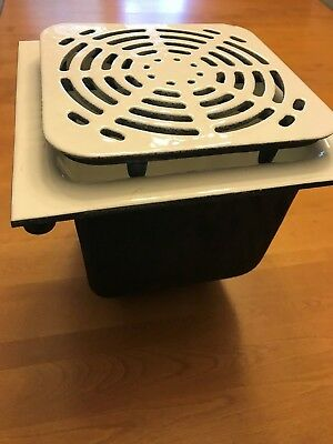 """Zurn 12"""" x 12""""  Floor Sink with grate cover NEW"""