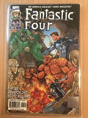 FANTASTIC FOUR #1 *SIGNED* Jim Lee with COA Lot of 1 Comic Book