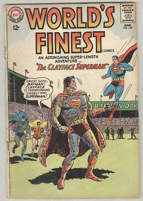 World's Finest #140 March 1964 G Clayface Superman
