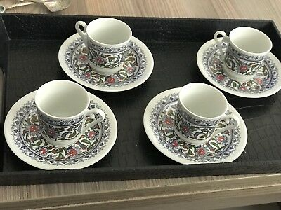 Turkish Coffee Set or espresso coffee set with tray