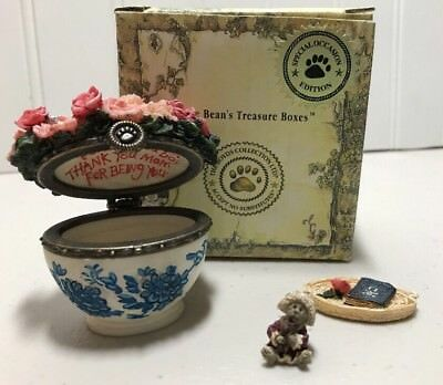 Boyds Treasure Boxes  #82530 Bearlove's Flower Bouquet  Momma & Baby McNibble