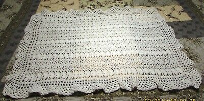 NEW Crochet Baby Crib Blanket - White