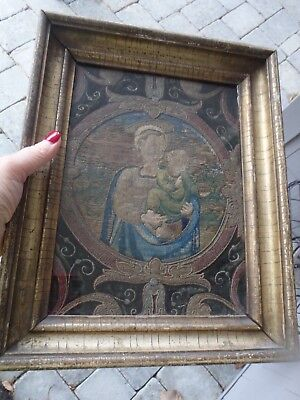 Antique 16-17thc Spanish or Italian Chasuable~Chuch Vestment Embroidery Fragment