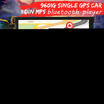 Car 9601G 7''HD Touch Scree GPS 1 DIN MP3/MP5 Bluetooth Player Set Kits w/Camera