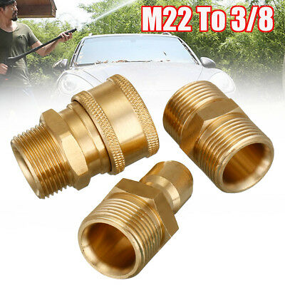 Brass M22 To 3/8 Quick-Connect adapters Pressure Washer Hose coupling fitting