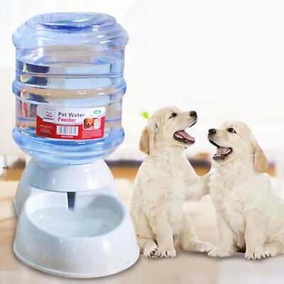 3.5L Automatic Removable Pet Food Drink Dispenser Dog Cat Feeder Water Bowl Dish