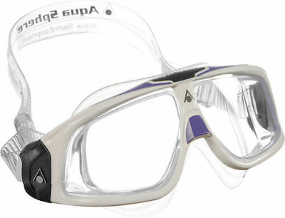 Aqua Sphere Seal 2.0 Ladies Swimming Goggles Clear Lens – White /Lavender