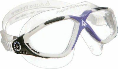 Aqua Sphere Vista Ladies Goggle White / Lavender /Clear Lens