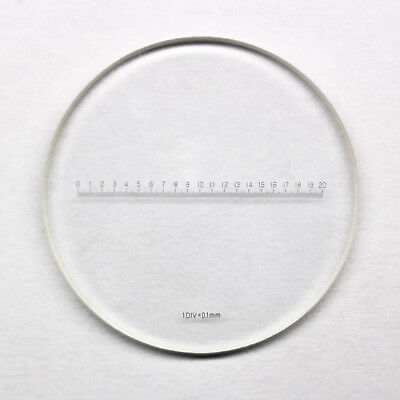 Microscope DIV 0.1mm Eyepiece Micrometer Ruler Scales Measuring X=20mm Length
