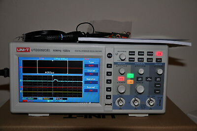 UK STOCK ! UTD2052CEL 50MHz 1Gs/s Digital Storage Oscilloscope 2-Ch 7'' LCD