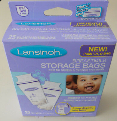 Lansinoh Breastmilk Storage Bags, 25 Count, BPA Free and BPS Free