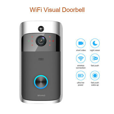 Wireless WiFi Smart Phone DoorBell Visual Camera Home Door Bell 2-Way Audio APP