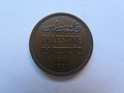 1941 PALESTINE ISRAEL 1 MIL COPPER COIN in EXCELLENT COLLECTABLE CONDITION