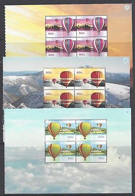 Australia 2008 - Up Up and Away - set of 5 Prestige Booklet Mini Sheets