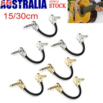 Guitar Effect Pedal Board Patch Cable Cord Right Angle Plug Accessories 15/30cm