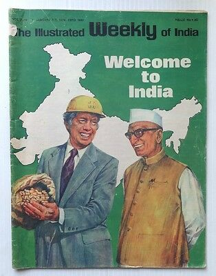 The Illustrated Weekly of India 1 Jan 1978 Welcome To India JIMMY CARTER