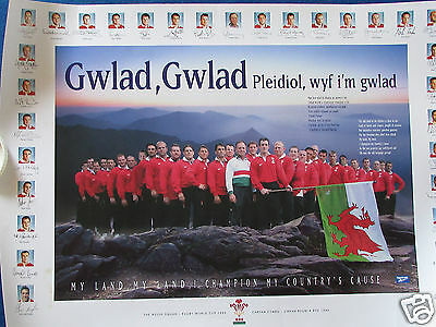 """Wales Rugby World Cup 1999 Squad Poster - 23.5"""" x 16.5"""""""