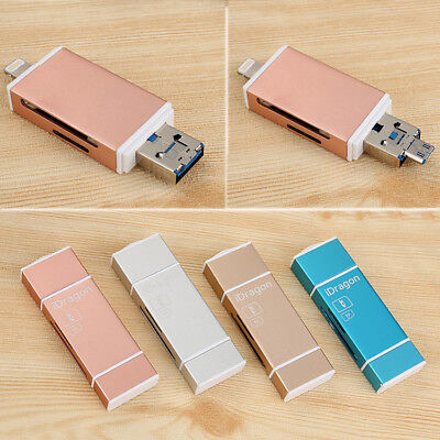 Mini USB i Flash Drive TF SD OTG Card Reader For iPhone iPad PC Android Samsung