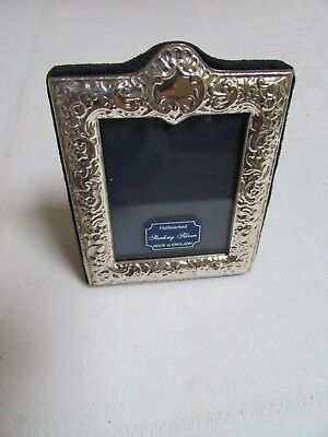 "Gift New Bnwt Solid Silver Photo Frame Vintage G & C Kitney H/m 2.75"" X 3.5"" Box"