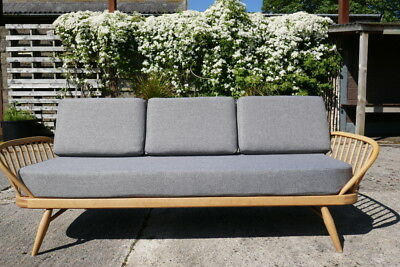 Cushions & Covers Only. Ercol Studio Couch/Daybed. Mid Grey Stitch from NEXT