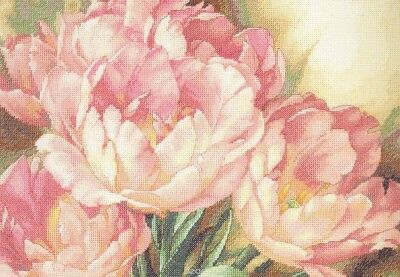 "DIMENSIONS GOLD ""TULIP TRIO""CROSS STITCH KIT  Kreuzstich-Stickpackung 41x30 CM"