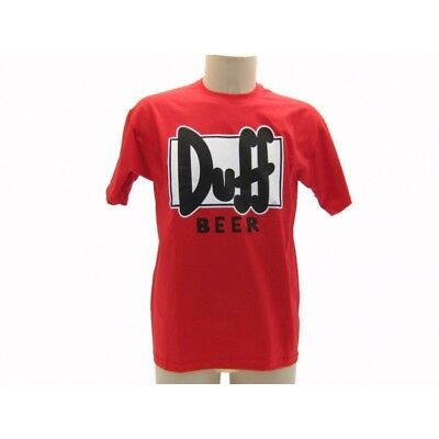 Maglia T Shirt The Simpsons Duff Beer Logo Rossa