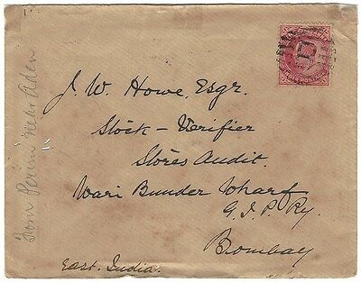Cover from Perim???? Aden 1905 to Bombay India Ӝ