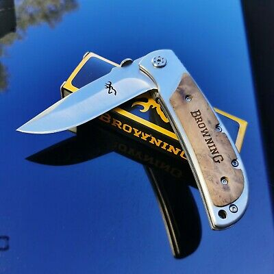 Browning knife 338 large Folding  Pocket Knife for Hunting Survival Camping