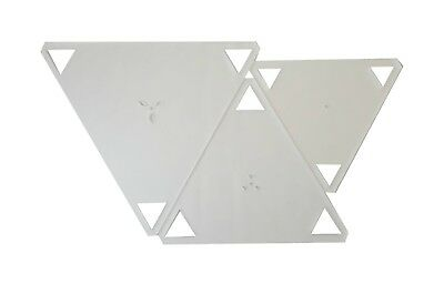 Duroedge Acrylic Triangle Quilting/Patchwork Frosted Transparent Template Set