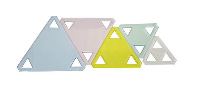 Duroedge Acrylic Triangle Quilting/Patchwork Transparent Template Set