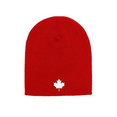 Canada Maple Leaf Flag Yupoong Adult Knit Canadian Beanie Skull Cap 1500