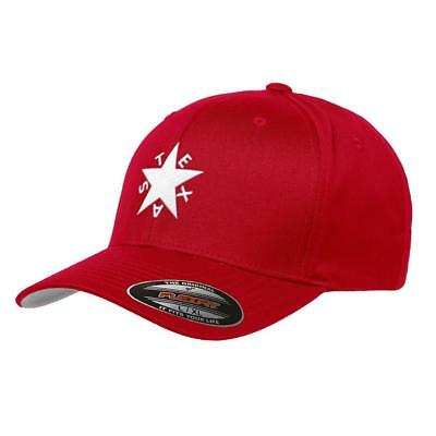 fa72016fd3c Republic of Texas State Flag Flexfit Premium Classic Yupoong Wooly Combed  Hat 62