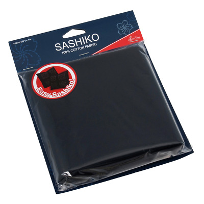 Sew Easy Sashiko Embroidery Cotton Fabric 1m x 1.42m - Dark Navy