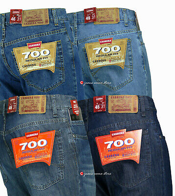 Jeans Uomo Carrera 700 pantalone 5 tasche cotone leggero x estate denim regular