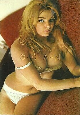 Org Vintage 1960s-70s Italian Risque Pinup PC- Blond Woman in Bra & Panties