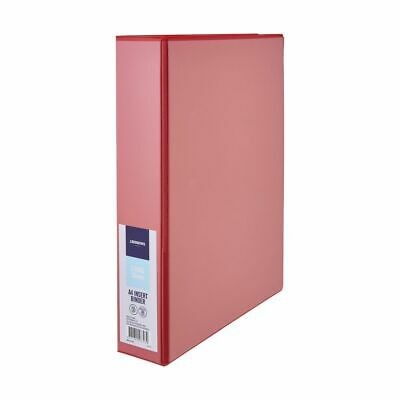 J.Burrows Insert Binder A4 3 D-Ring 38mm Red