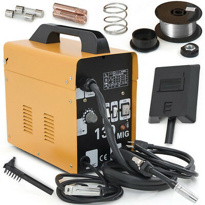 MIG 130 Gas-Less Flux Core Wire Welder Welding Machine Automatic Feed 50-120A