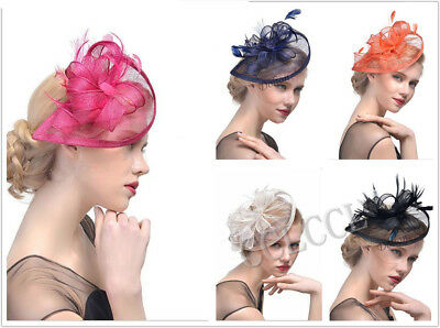 Ladies Flower HATINATOR Sinamay Fascinator Royal Ascot Race Wedding HenParty