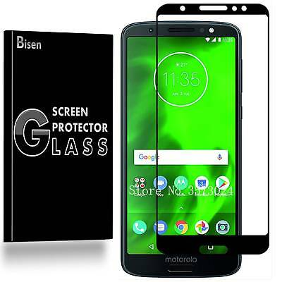 2-PACK [BISEN] FULL COVER Screen Protector Tempered Glass For Motorola Moto G6