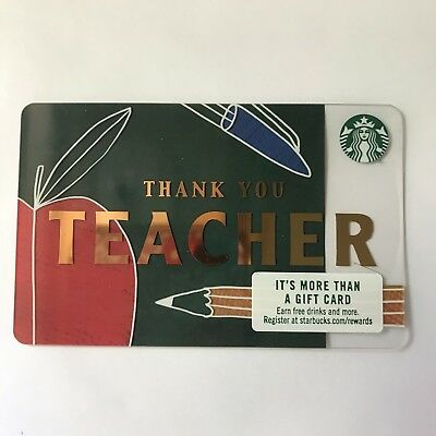 Starbucks Gift Card Thank You Teacher Apple
