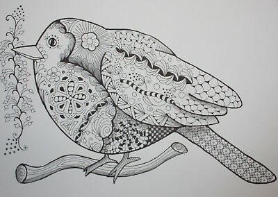 Drawing original pen ink on paper Art by Diane Chilson