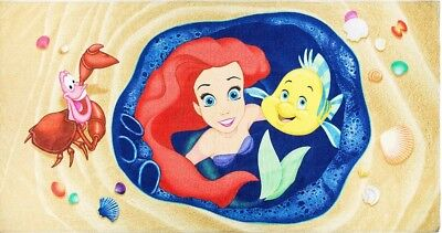 Disney Parks Little Mermaid Ariel/flounder&sebastian Beach Towel Nwt
