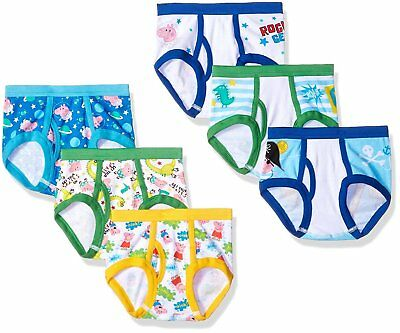 Peppa Pig Boys' Briefs 7-Pack Toddler Underwear Sizes 2T/3T-4T Assorted Prints