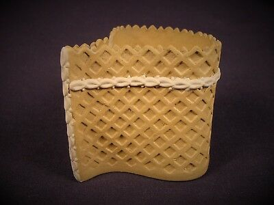 VERY RARE EARLY 1800s WHITE BAND CUSTARD CUP CANEWARE CANE YELLOW WARE