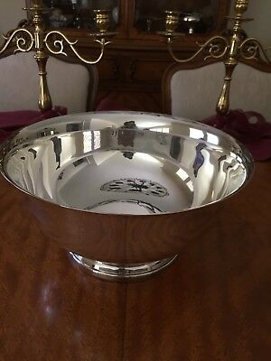 "Gorham Silverplate 12"" Footed Bowl/Punch Bowl, Vintage, Exl Cond!"