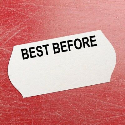 """Best Before"" Printed CT4 26mm x 12mm Price Gun Permanent Labels,Puma -15,000"