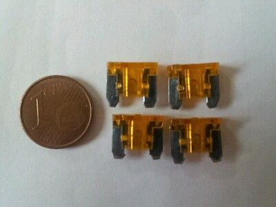 4 micro mini fusibles 5A 5 Amp auto moto car automobile voiture 11x10 mm
