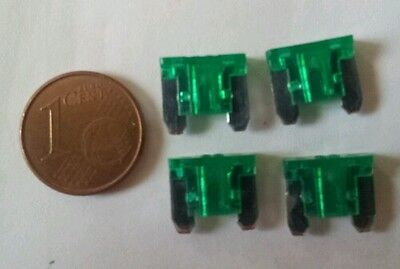 4 micro mini fusibles 30A 30 Amp auto moto car automobile voiture 11x10 mm