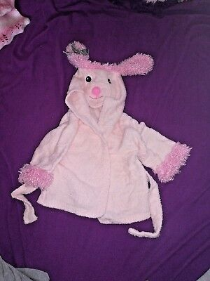 0-6 month sheep dressing gown baby poodle bath robe